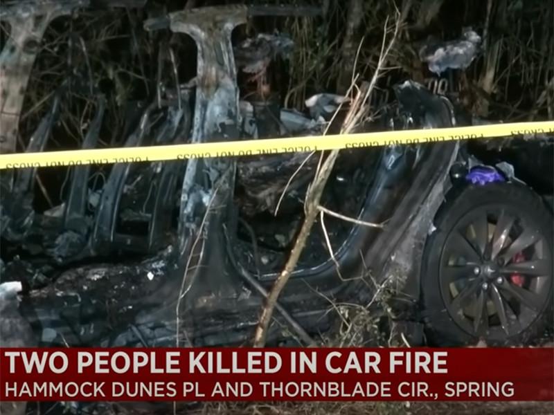 Два человека погибли в ДТП с Tesla в Техасе. За рулем влетевшего в дерево электромобиля никого не было