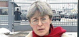 Анна Политковская вернулась из фильтрационного лагеря в Чечне