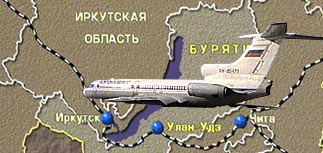 Самолет Ту-154 разбился в 34 километрах от Иркутска