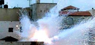 Взрвана штаб-квартира Ясира Арафата в Рамаллахе