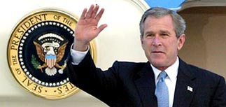 Москва встретила Буша еще в воздухе