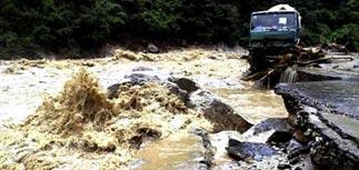 Потоп на юге России. Терек прорвал дамбы