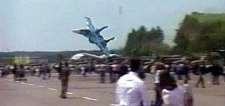 Во Львове Су-27 рухнул на зрителей авиашоу