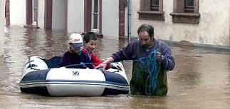В Европе началось новое наводнение