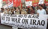 Демонстрации против войны в Ираке прошли по всему миру