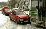 Дороги Москвы превратились в сплошной каток