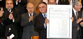 В Ираке подписана временная конституция страны