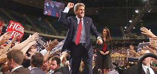 Буш проиграл 1-й раунд теледебатов: за Керри - 80%