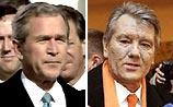 Буш поздравил Ющенко и получил поздравление в ответ