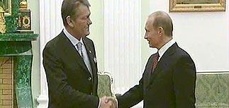 Встреча Путина и Ющенко продолжалась почти 3 часа