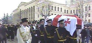Зураб Жвания похоронен в пантеоне великих