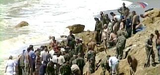 Оползни на Черноморском побережье: завален пляж с людьми