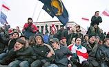Оппозиция разбила палатки в центре Минска и требует перевыборов