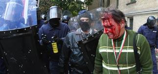 Беспорядки в Будапеште в годовщину восстания 1956 года