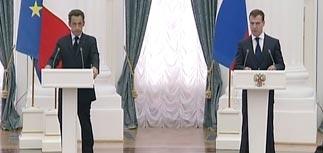 Медведев ознакомил Саркози с планом по Южной Осетии