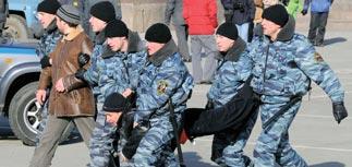 ОМОН пресек новую акцию протеста автомобилистов Владивостока