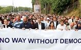 Оппозиция блокировала железную дорогу в Тбилиси