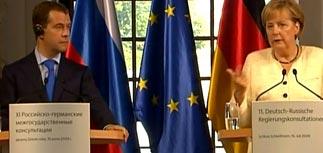 Медведев защитил Кадырова перед Меркель