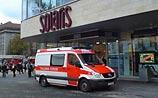В новейшем ТЦ в Таллине рухнул потолок и хлынула вода