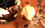 За таран чужой машины на Тверской водитель Mercedes с мигалкой заплатил сто рублей