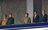 Ким Чен Ир принял военный парад в Пхеньяне вместе с сыном-преемником