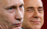 СМИ: брутальный Путин довел Берлускони до обморока, вырезав сердце у оленя