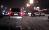 Московские пробки, превышающие путь до Барселоны, не рассасываются даже к ночи