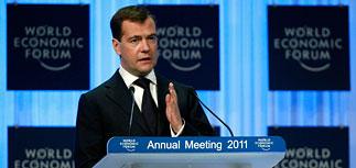 Медведев в Давосе: теракт не поставит Россию на колени
