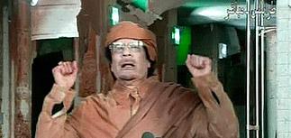 """Каддафи провозгласил себя мучеником: против него группка """"крыс"""" под галлюциногенами"""