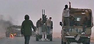 Бои за Эз-Завию - войска Каддафи прорвались в город