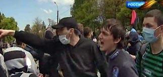 Украинские националисты испортили День Победы массовыми побоищами