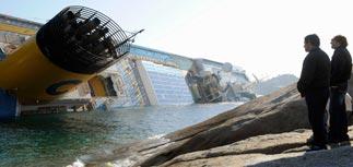 При крушении Costa Concordia 70 человек пропали без вести