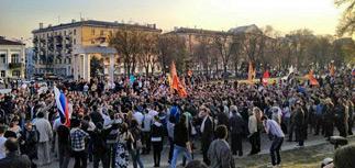 Астрахань вышла на митинг за Шеина. Получилось шествие
