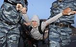 Столичная полиция: оппозиционеров разогнали за то, что они не радовались, как все
