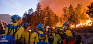 Пожары превратили запад США в зону бедствия. Пламя подбирается к газовым скважинам