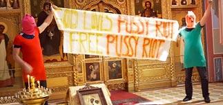 Последователи Pussy Riot забрались на амвон в храме Вены
