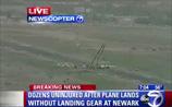 В США пассажирский самолет с 34 людьми на борту сел на брюхо. ВИДЕО