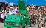 Детский военный парад в Северной Корее: игрушечные ракеты и стрельба по американцам. ВИДЕО