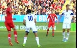 Россияне обыграли  израильтян в отборочном матче ЧМ-2014 и вышли на первое место