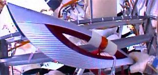 Олимпийский факел вынесли в открытый космос