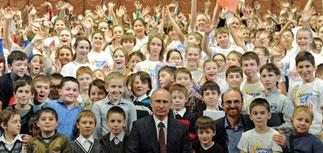 Детский хор из 1000 человек исполнил для Путина финальную песню Олимпиады