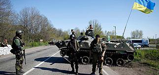 Операция в Славянске приостановлена из-за учений войск РФ на границе с Украиной