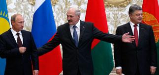 Двусторонняя встреча Путина и Порошенко проходит в Минске