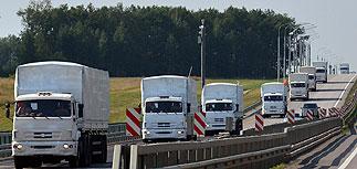 """Российские грузовики с помощью для Донбасса """"исчезли в неизвестном направлении"""""""