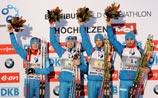 Российские биатлонисты впервые в сезоне выиграли гонку Кубка мира