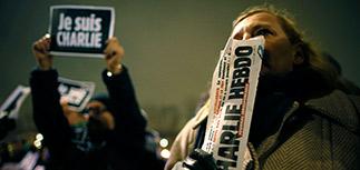 """В Париже  проходит """"Марш молчания"""" в память о жертвах теракта Charlie Hebdo"""