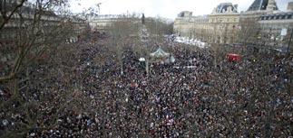 На марш единства в Париже пришли 1,5 млн человек