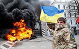 """Бойцы расформированного батальона """"Айдар"""" пошли на штурм Минобороны Украины"""
