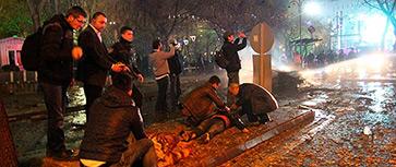 Мощный взрыв прогремел рядом с автобусной остановкой в Анкаре
