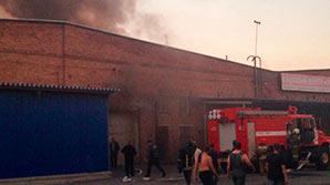 На складе под Екатеринбургом произошел пожар: взрывы прекратились
